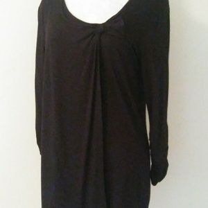 Willi smith black top womens blouse Size small